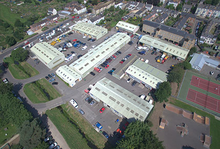 Arial View Dreadnought Trading Estate Image